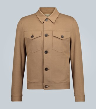 Harris Wharf London Stretch pique shirt jacket