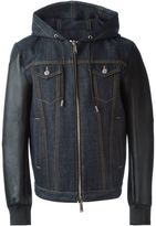 DSQUARED2 denim detail jacket - men - Cotton/Polyester/Polyurethane/Spandex/Elastane - 50