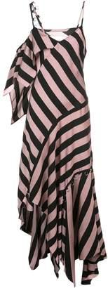 Marques Almeida Striped Asymmetric Maxi Dress