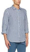 Fat Face Men's Linen Gingham Casual Shirt