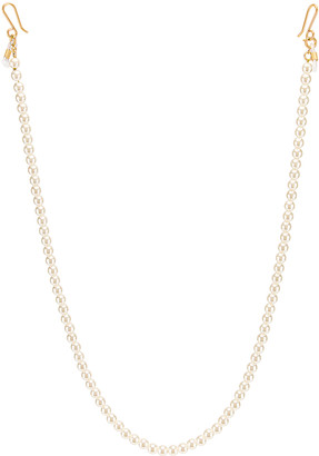 Lele Sadoughi Beaded Cable Length Eyeglass Chain in Pearl   FWRD