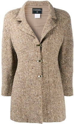 Chanel Pre Owned Single-Breasted Tweed Jacket