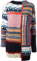 Alexander McQueen patchwork jumper dress - women - Cashmere/Wool - S