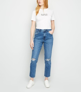 New Look High Waist Ripped Tori Mom Jeans