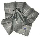 Saint Laurent Grey Linen Scarves & pocket squares