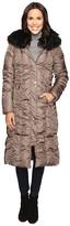 Via Spiga Maxi Coat with Rouching Detail