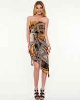 Le Château Geo Print Asymmetrical Dress