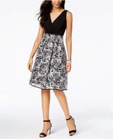 R & M Richards Soutache Fit & Flare Dress