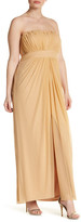 Marina Strapless Ruched Gown (Plus Size)