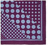 Barneys New York Men's Dot-Print Wool Pocket Square-PURPLE