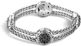 John Hardy Women's Kali 15MM Station Bracelet in Sterling Silver with Black Sapphire