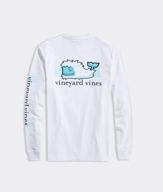 Vineyard Vines Yeti Whale Spotting Long-Sleeve Pocket Tee