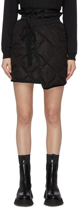 Moncler Padded patch pocket wrap mini skirt