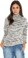 Bella Dahl Turtleneck Sweater -Bone Black-XS
