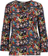 Alice + Olivia Colby floral-print silk blouse