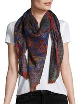 Givenchy Paisley-Print Cashmere Scarf