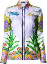 Versace printed zipped jacket