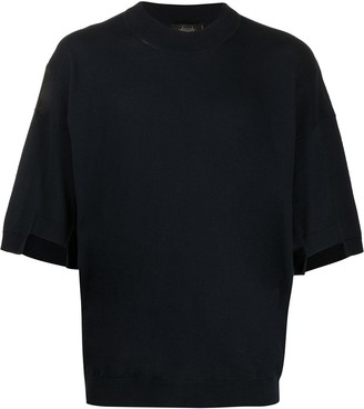 Maison Flaneur round neck knitted T-shirt