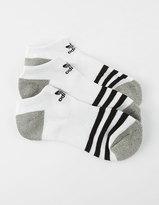 adidas 3 Pack Girls Ankle Socks