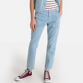 """La Redoute Collections Regular Straight Leg Jeans with Narrow Stripes, Length 26.5"""""""