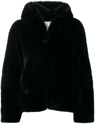 Ava Adore hooded faux-fur jacket