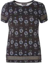 Dorothy Perkins Black floral lace insert Tee