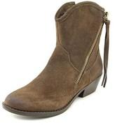 Report Signature Von Women Round Toe Suede Brown Ankle Boot.
