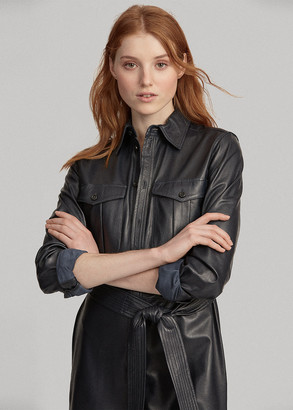 Ralph Lauren Leather Shirtdress