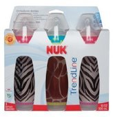 NUK Trendline 3 Count Animal Prints Bottle, Girl Animal Prints, 10 Ounce (Discontinued by Manufacturer) by