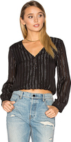 Amuse Society Moonlight Woven Top in Black. - size S (also in )