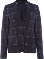 Gant Blazer With Single Button In Checked Pattern