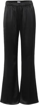 Deveaux Savannah wide-leg satin pants