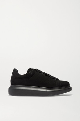 Alexander McQueen Suede Exaggerated-sole Sneakers - Black