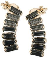 ABS by Allen Schwartz Gold-Tone Rectangle Crystal Ear Climbers