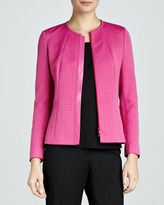 Lafayette 148 New York Marisol Combo Leather-Trim Jacket