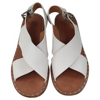 Church's White Leather Sandals
