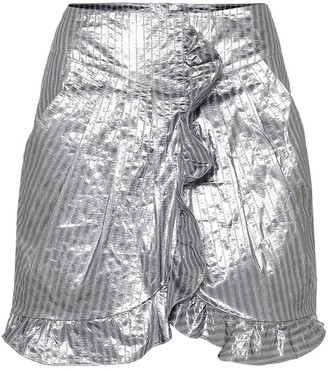 Isabel Marant Exclusive to Mytheresa a Mucius striped metallic miniskirt