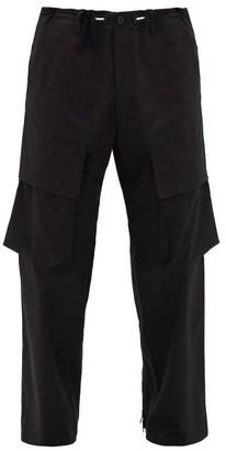 Y-3 Flap-pocket Cotton-blend Cargo Trousers - Black