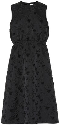 Noir Kei Ninomiya Rose-embossed dress