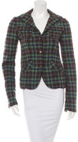 Marni Fitted Plaid Blazer