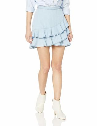 BB Dakota Womens Ruffle Around Indigo Tencel Ruffle Skirt