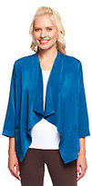 Linea by Louis Dell'Olio 3/4 Sleeve Drape Front Jacket