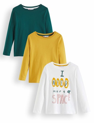 Amazon Brand - RED WAGON Boy's Long Sleeve Top Pack of 3