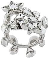 DSQUARED2 crystal-embellished wrap ring