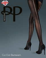 Pretty Polly Opaque Cut Out Backseam Tights