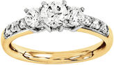 MODERN BRIDE 1 1/7 CT. T.W. Diamond 14K Gold 3-Stone Engagement Ring