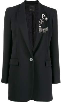 Pinko embellished longline blazer