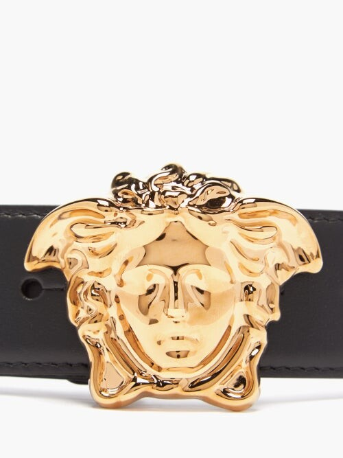 Thumbnail for your product : Versace Medusa-buckle Leather Belt - Black