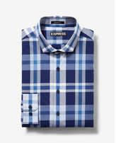 Express Modern Fit Plaid Shirt