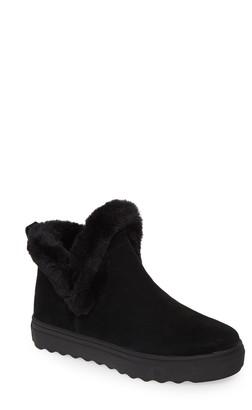 J/Slides Priya High Top Sneaker with Faux Fur Lining